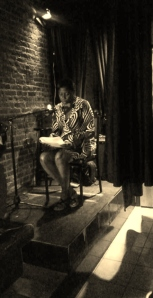 """Reading an excerpt from my novel """"Perceptions."""""""